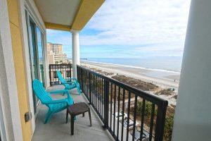 Ocean Front Villas Myrtle Beach Balcony