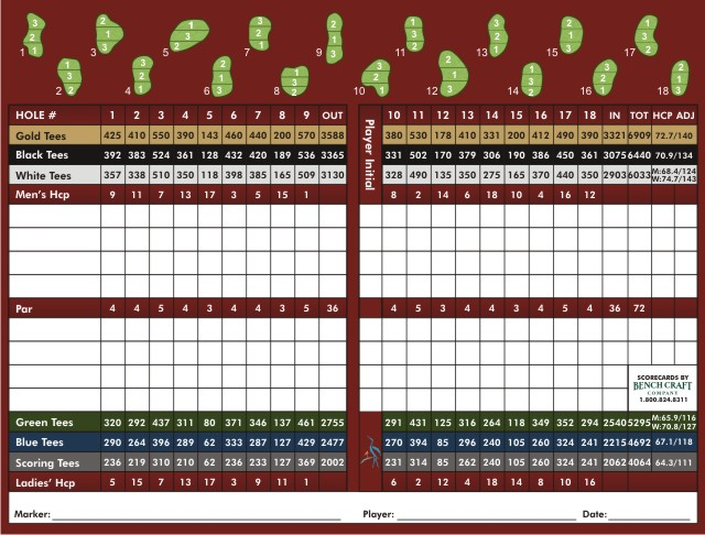Rivers Edge Course Score Card