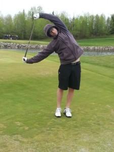 side Stretch Golfer - Improve Game